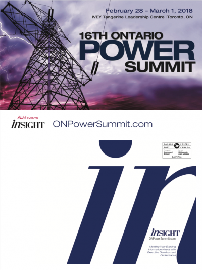 Ontario Power Summit Brochure
